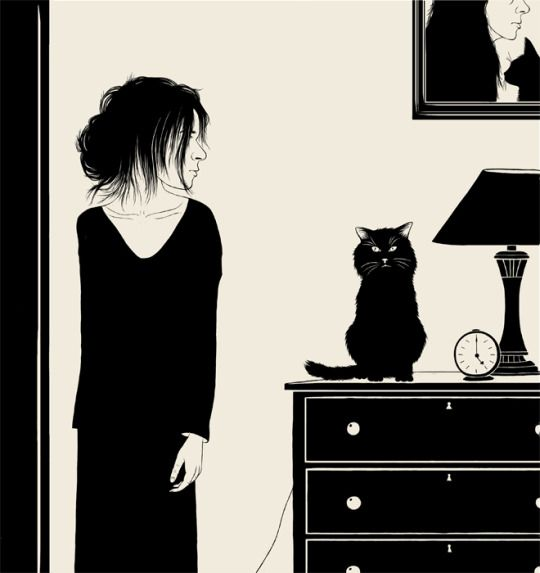 She and her cat by Natalia Akimova.