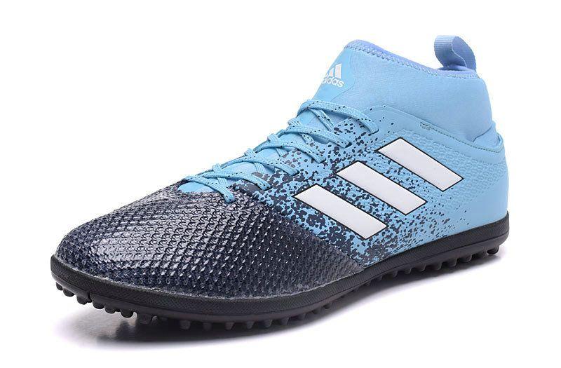 online retailer 1b925 d30d0 2018 World Cup Adidas ACE 17 3 Primemesh TF Soccer Shoes Core Black White  Blue
