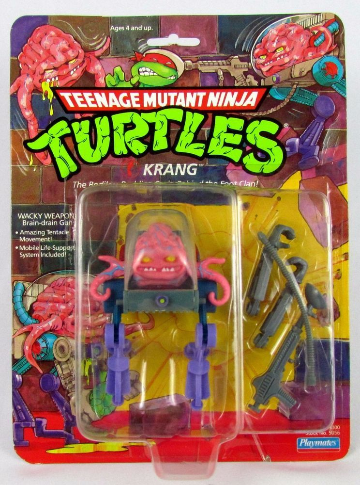 1989 ORIGINAL *** KRANG BRAIN *** TEENAGE MUTANT NINJA TURTLES TMNT