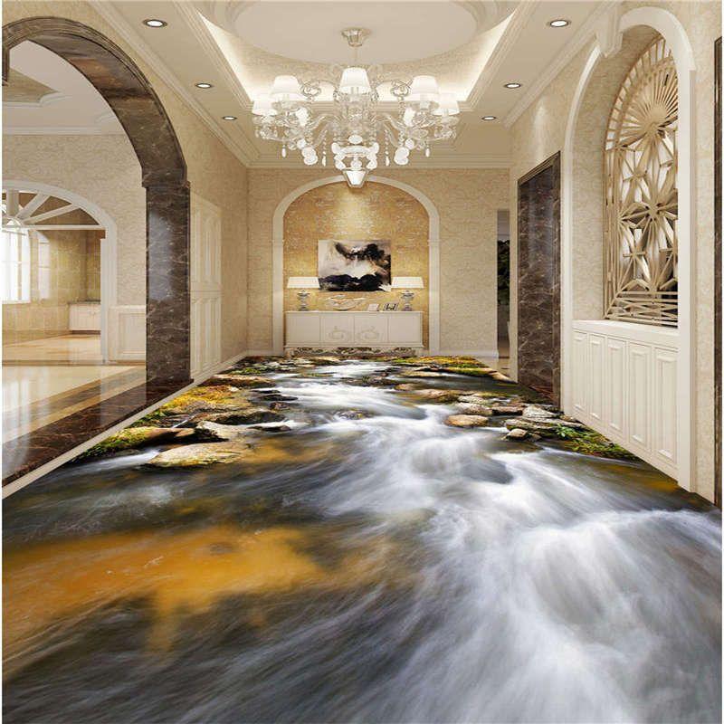 Details Zu Naturlicher Klarer Fluss 3d Fussboden Wandgemalde Foto Bodenbelag Tapete Zuhause 3d Fussboden Fussboden Tapeten