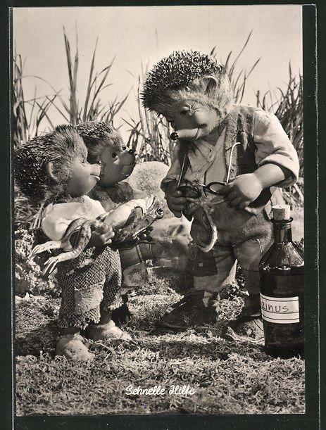 AK Meckis Kinder halten dem Vater einen verletzten Frosch hin und bitten ihn um in Sammeln & Seltenes, Ansichtskarten, Motive | eBay