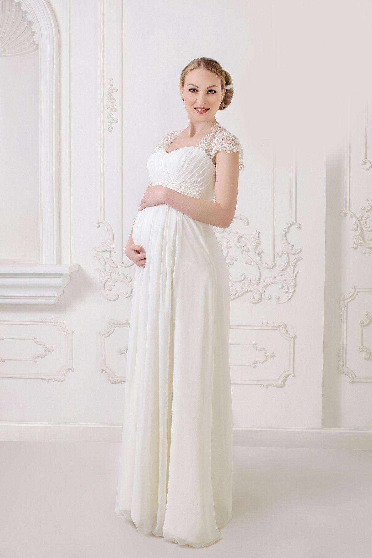 Long chiffon lace maternity wedding dress lace wedding dresses long chiffon lace maternity wedding dress ombrellifo Image collections
