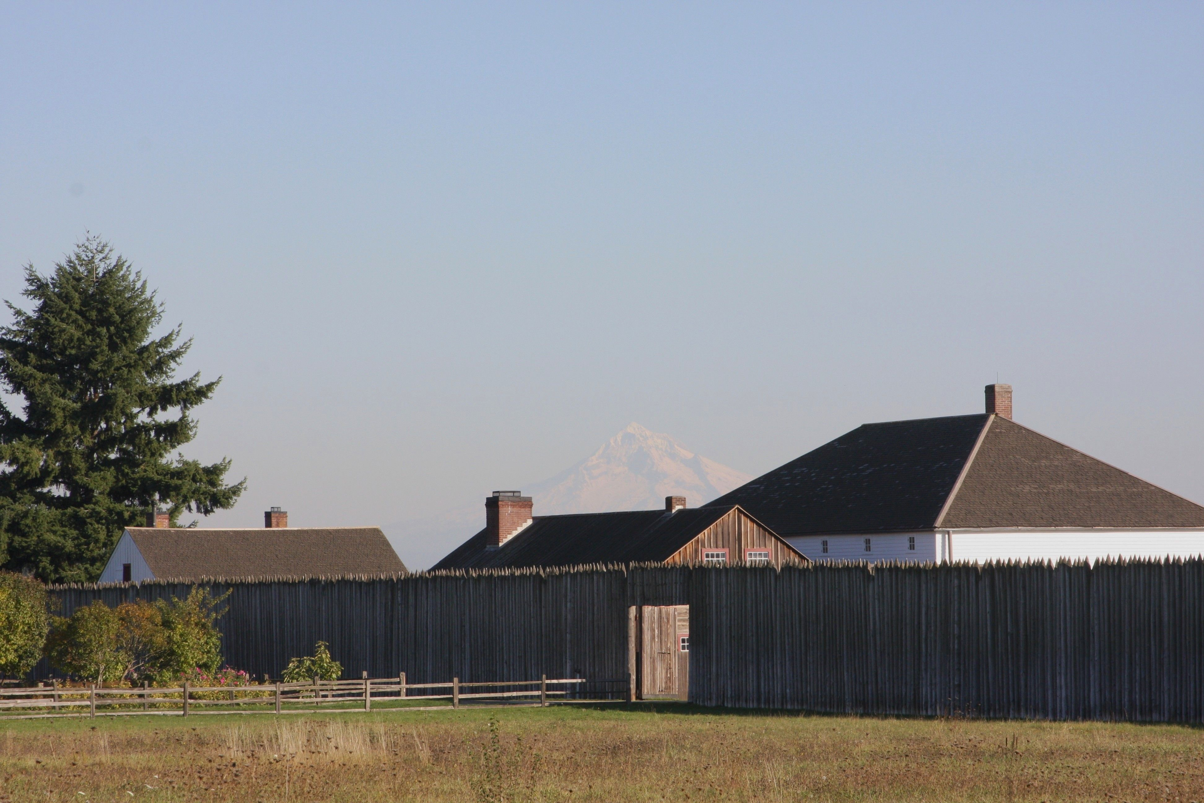 Fort Vancouver, WA.  Mt.  Hood in the background.  10/2013.
