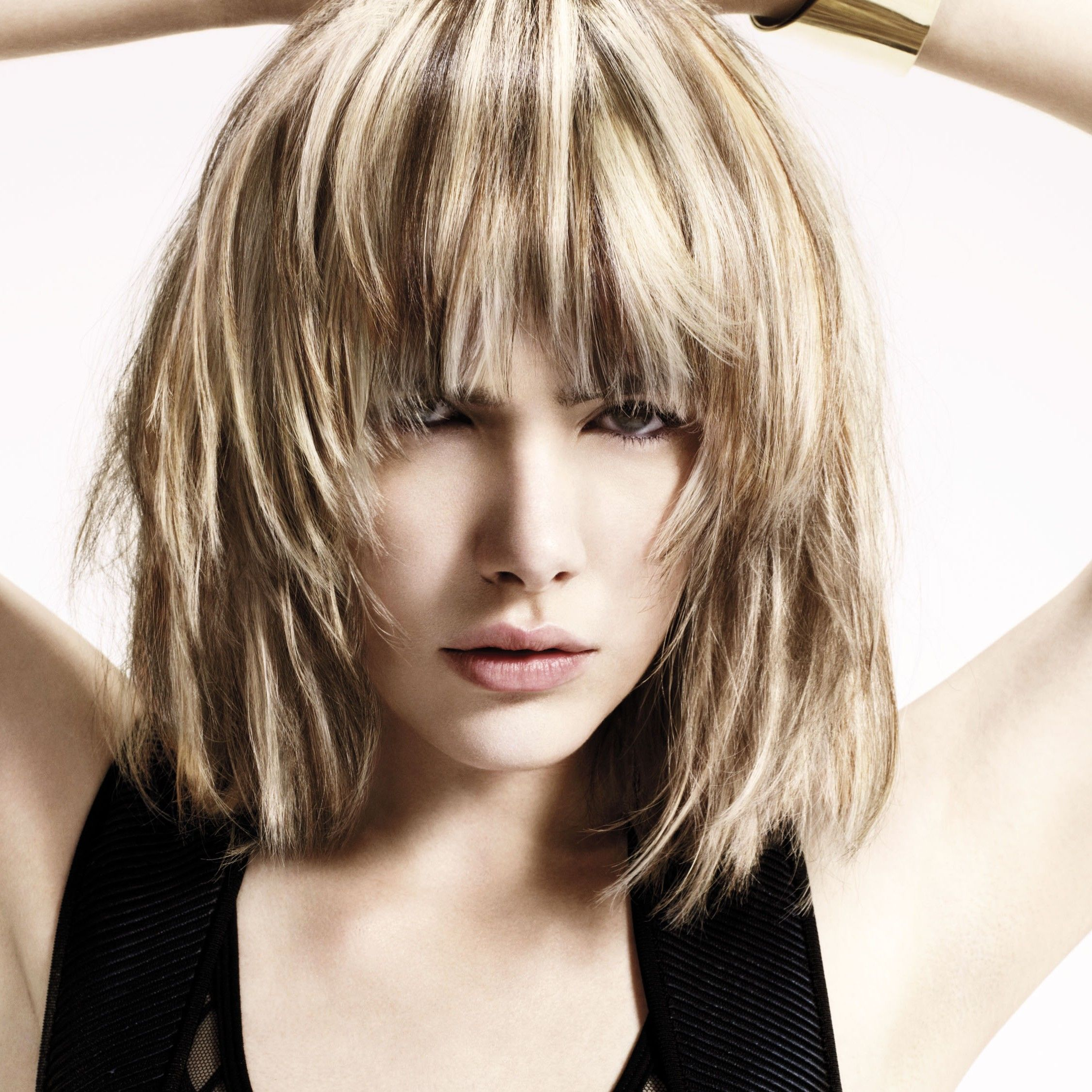 Platinumhairwithlowlights semipermanent hair color does not