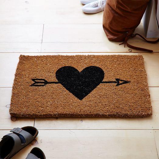 Heart Arrow Doormat West Elm