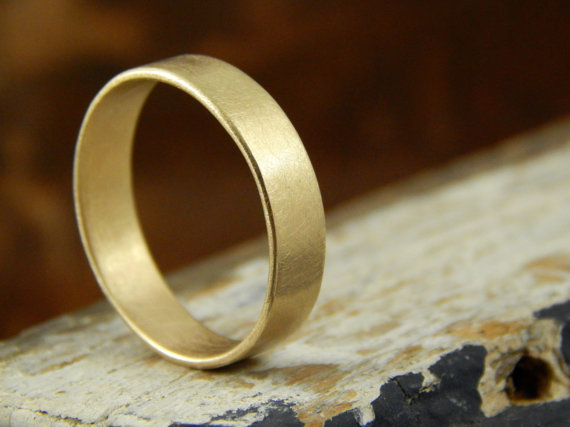 5 mm gold wedding band 14k solid yellow gold band 14k solid gold