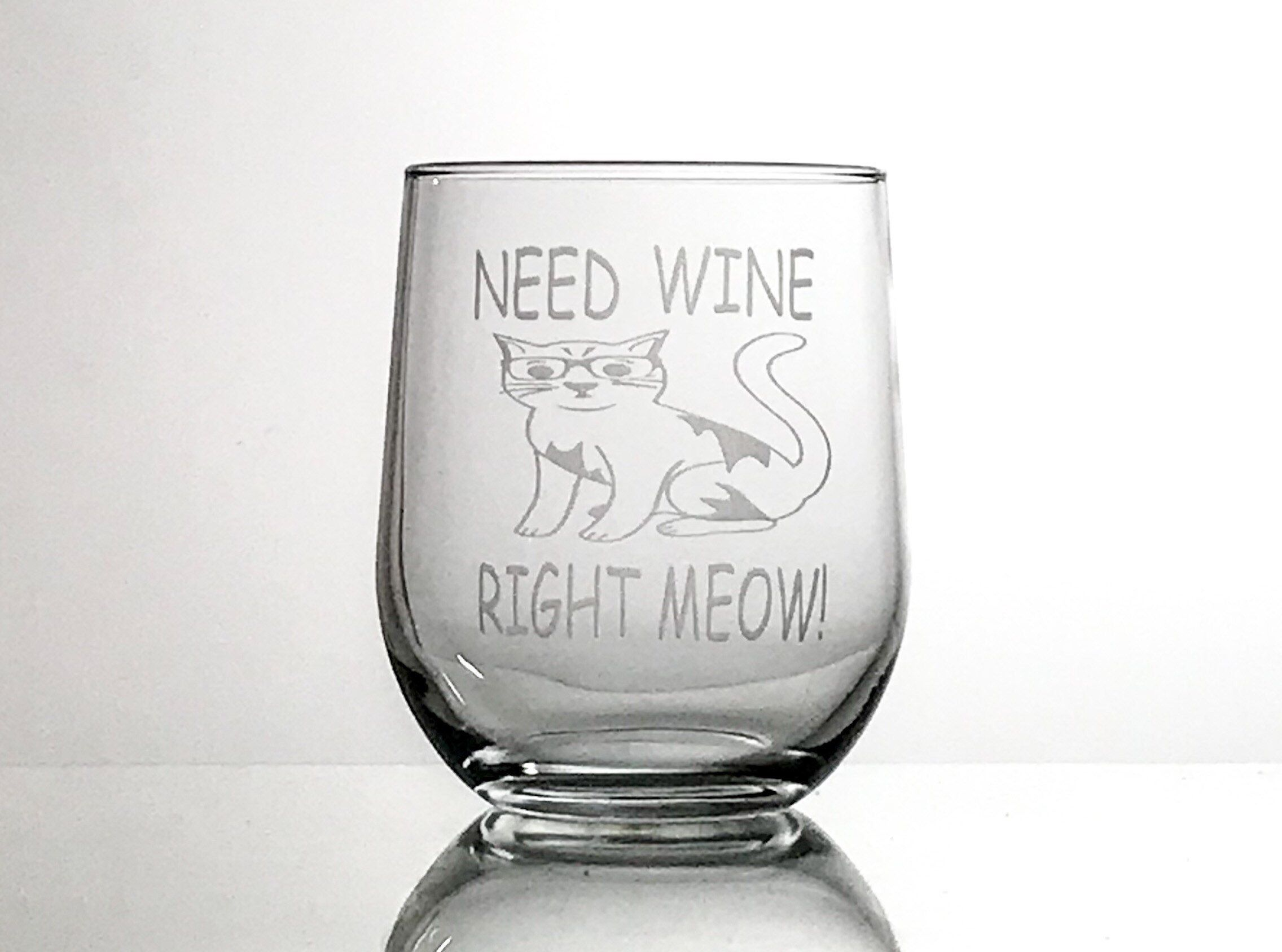 Personalised CATS Pint Beer Glass FREE ENGRAVING Any Message Engraved Cat Gift