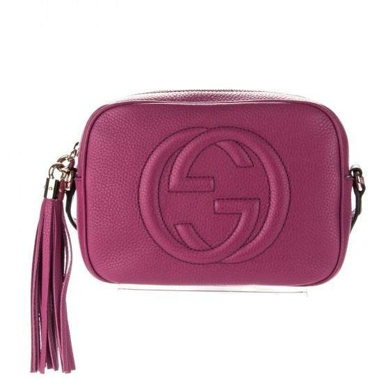 4b92d908443d Gucci Soho Disco Crossbody Small Bougainvillea