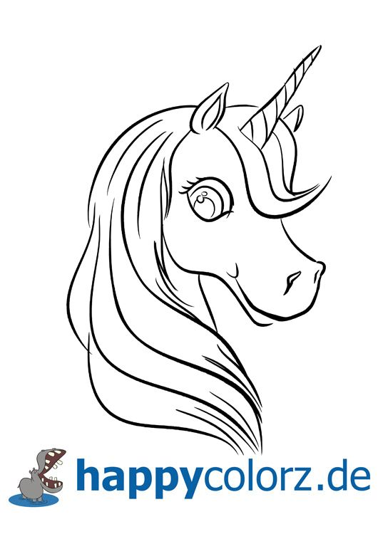 Photo of Coloring page unicorn head