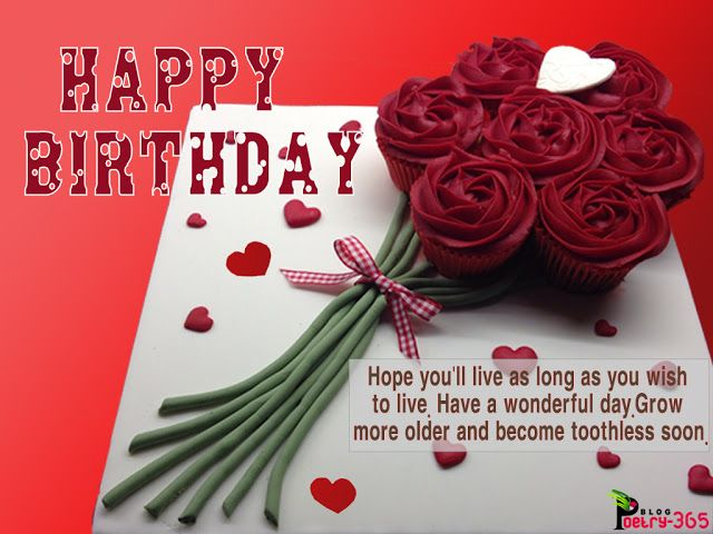 Wishes and poetry: happy birthday cute images and birthday cake