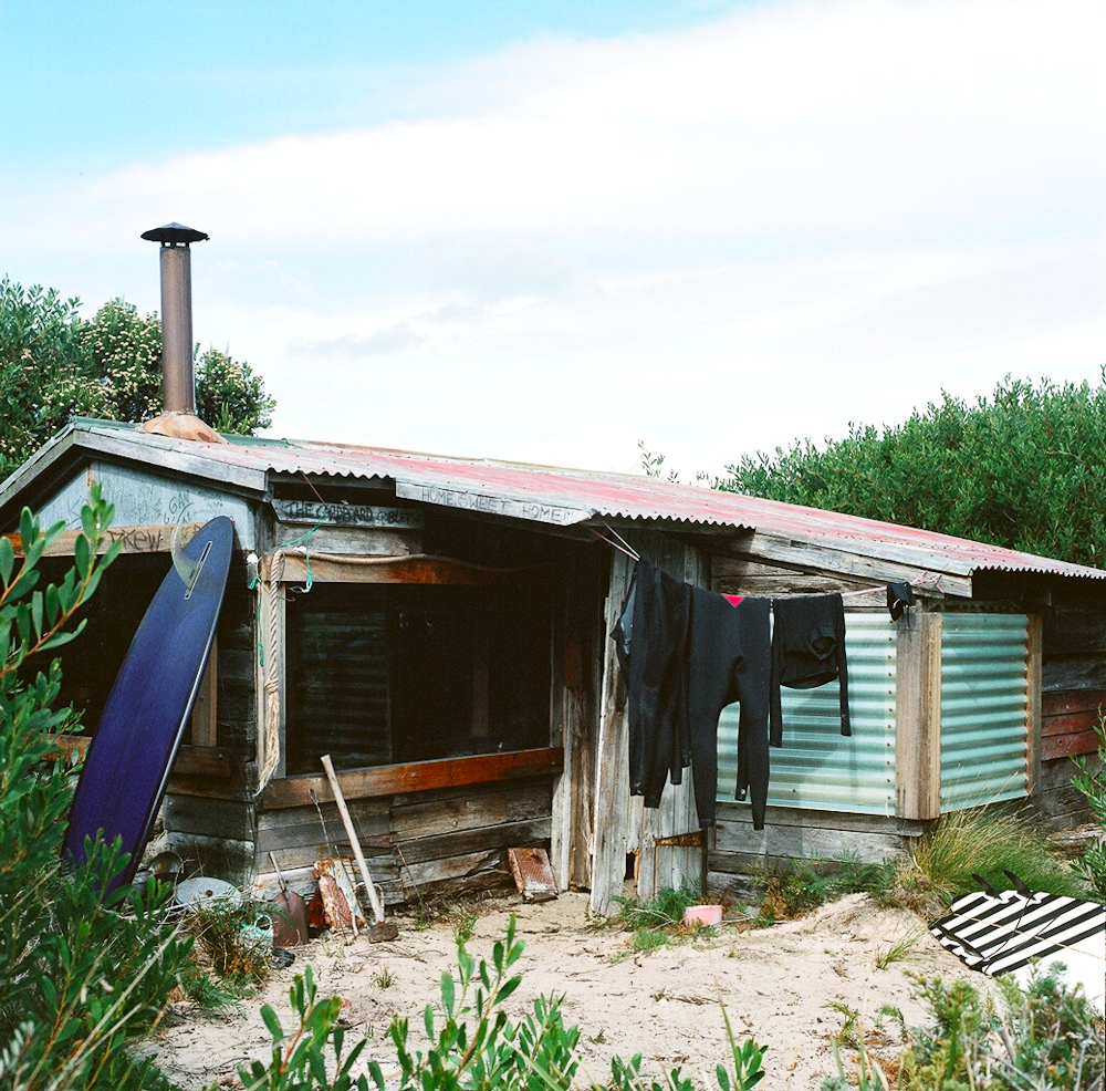+ Surf shack in southwest Tasmania by James Bowden.