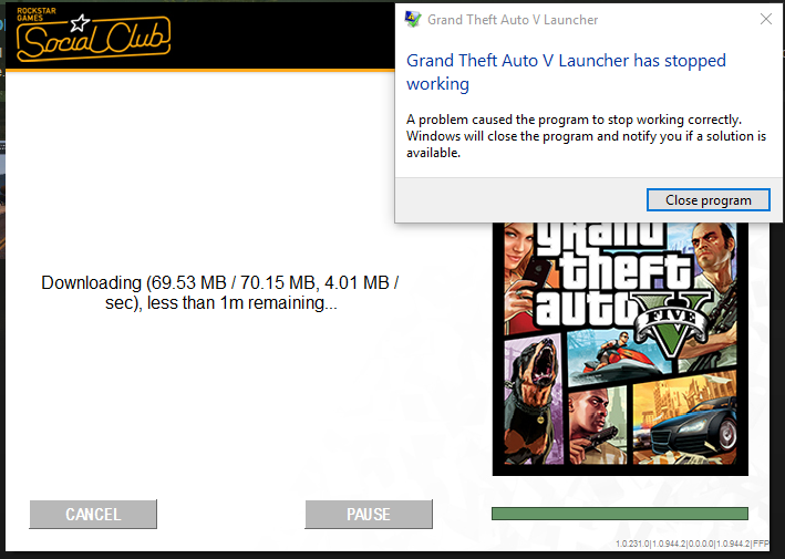 gta v keeps crashing started today  Not sure why  Please help