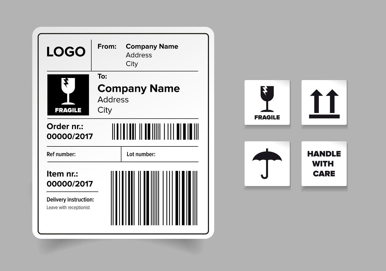 Shipping Label Template Inspirasi Desain Grafis Kreatif Desain