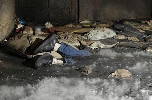 A dead body was recently found frozen in ice inside an elevator shaft at an abandoned warehouse in Detroit.