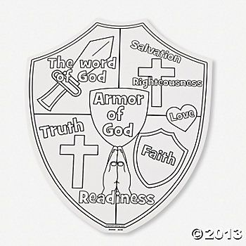 Color Your Own Armor Of God Cutouts Armor Of God Lesson Armor