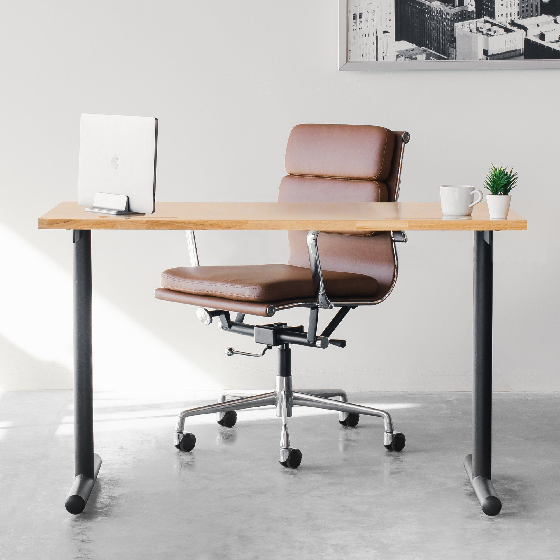 Ships September 22nd Soho Soft Pad Management Chair Brown In 2020 Modern Home Office Furniture Rustic Office Chairs Computer Desks For Home