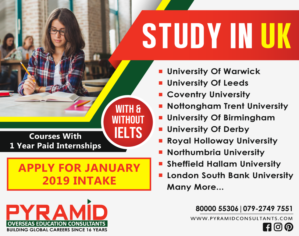 Study in United Kingdom With/Without IELTS 1 Year Paid