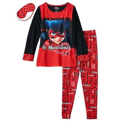 Girls Ladybug Miraculous Pyjamas Eiffel Tower