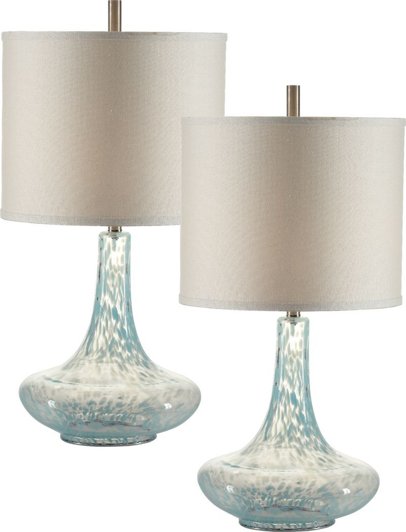 Rubery Cove Blue Lamp Set Of 2 In 2020 Lamp Sets Table Lamp Blue