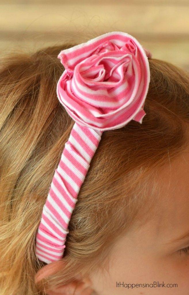 Big Ruffled Rose Headband from the book DIY T-Shirt Crafts