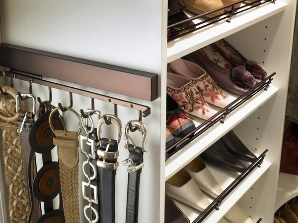 You Can Add Storage Space Simply With A Tie And Belt Rack