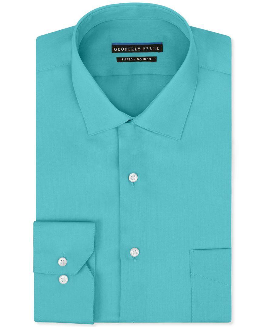 Green dress shirt mens Geoffrey Beene NonIron Sateen Solid Dress Shirt  Products
