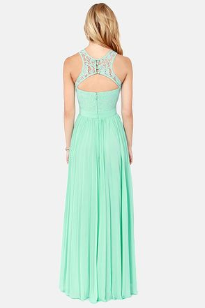 91af55ac79 LULUS x Bariano Best of Both Whirleds Mint Green Lace Maxi Dress at Lulus .com