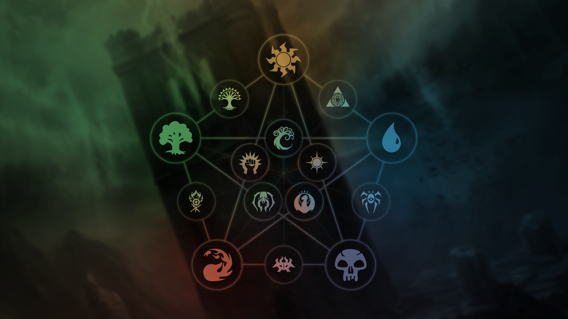 Image result for mtg mana symbols magic the gathering mtg art mtg - Magic land wallpaper ...