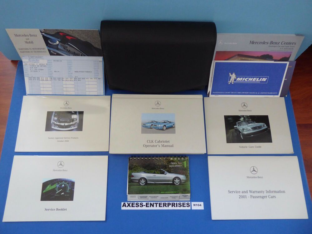 Ebay Sponsored 2001 Mercedes A208 Clk Clk320 Clk430 Cabriolet Owners Manuals Operator Books Set Cabriolets Owners Manuals Mercedes