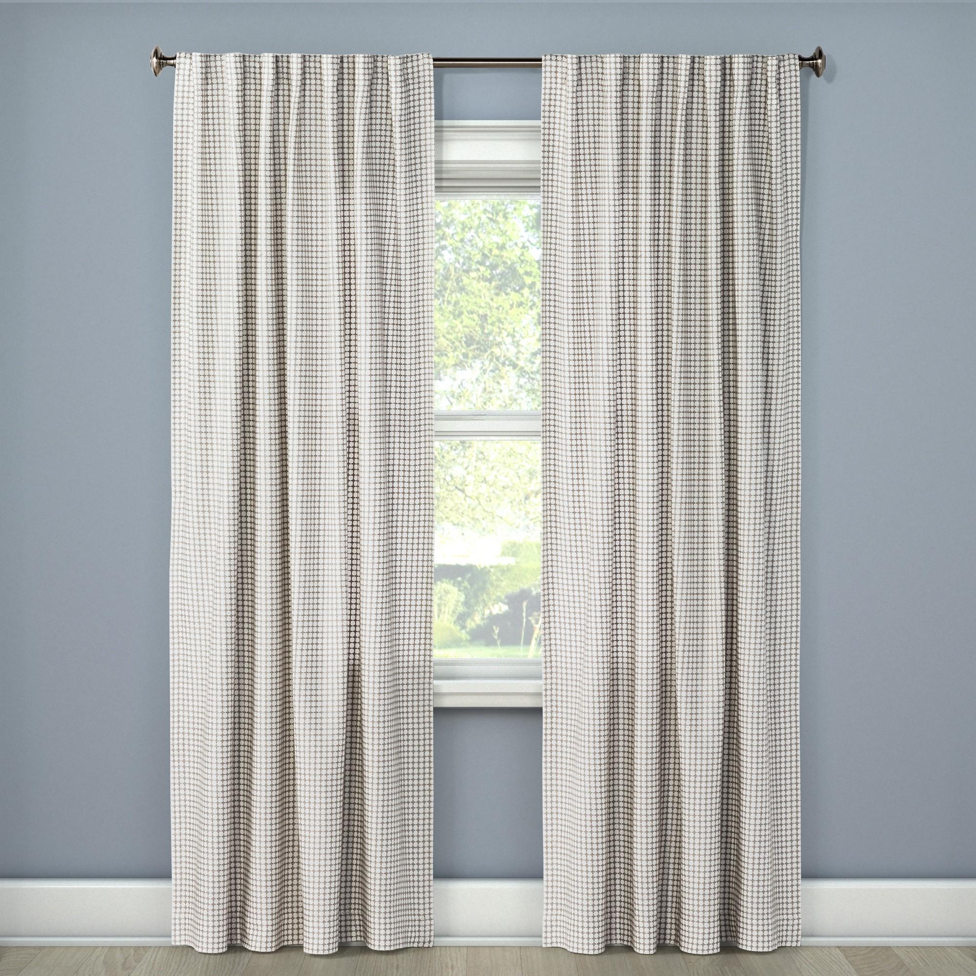 Light Filtering Curtain Panel Honeycomb Gray 108 Threshold