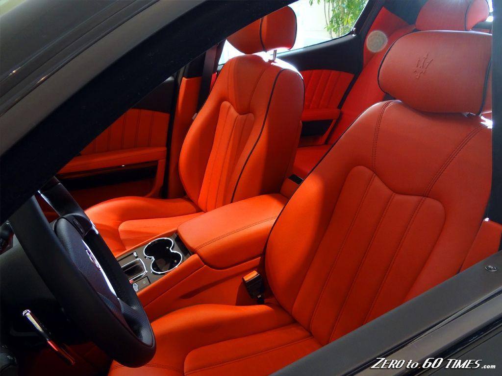 Red Leather Interior in Maserati