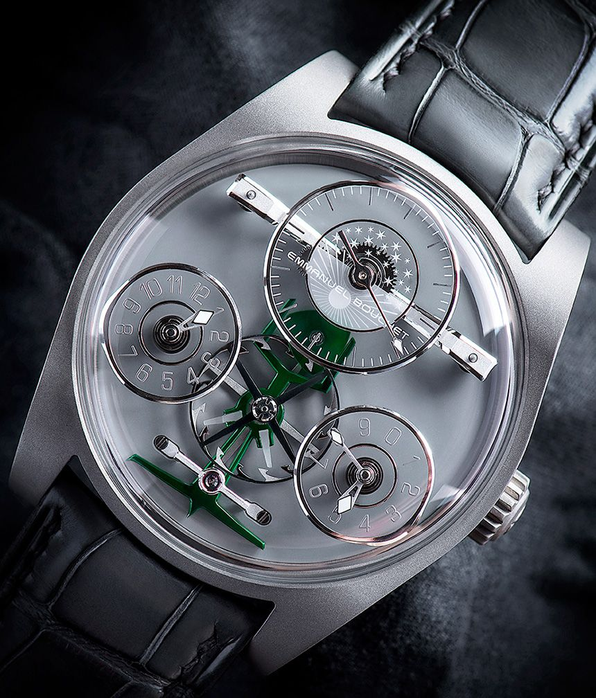 """Emmanuel Bouchet Complication One Ahmed Seddiqi & Sons Boutique Edition Watch - by Kenny Yeo - More on this special edition piece at: aBlogtoWatch.com - """"Emmanuel Bouchet is one of the youngest independent watch brands, having only released its first timepiece, the Complication One, in 2015. However, its founder, Emmanuel Bouchet, is no stranger to watchmaking and high horology. For readers familiar with Harry Winston's epic Opus series..."""""""