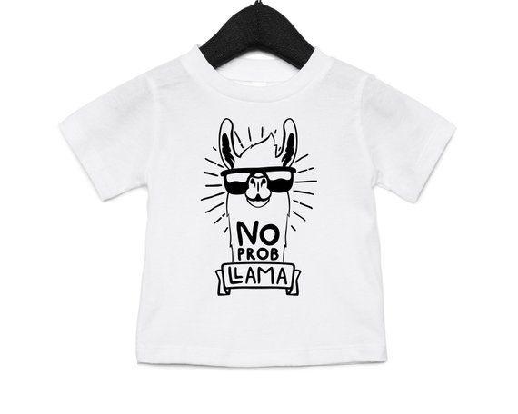 a74b1011 No Prob Llama shirt, No probllama shirt, Funny kids shirts, Llama shirts, No  problem, animal lover gifts, funny llama shirt, animal shirts