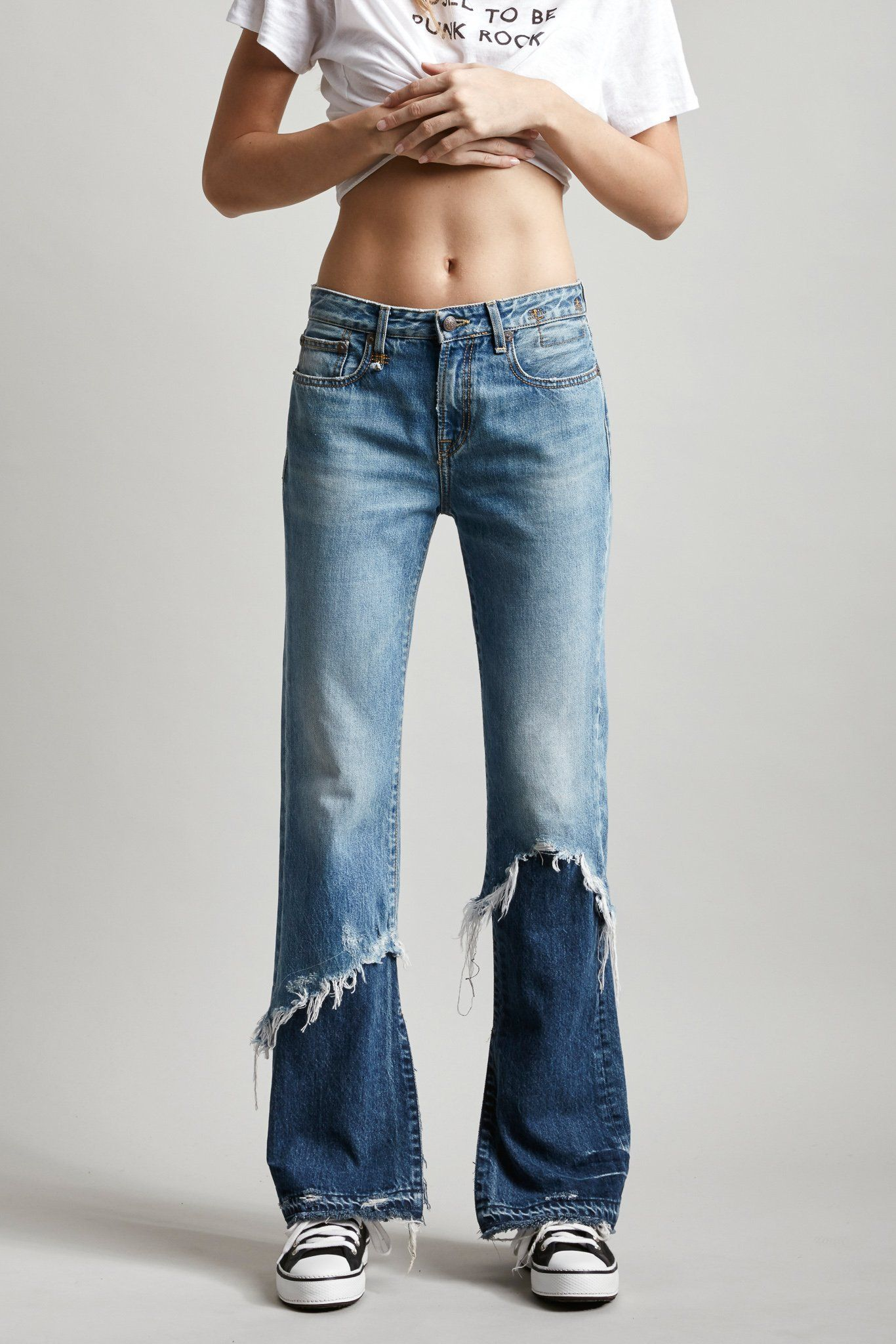 5c4d3a215a4 Vent Kick with Double Shredded Hems   fawn in 2019   Denim jeans ...