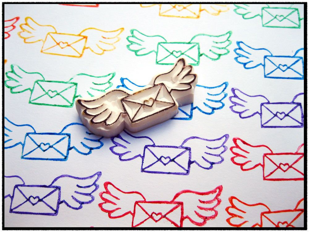Special Delivery Hand Carved Rubber Stamp. $5.99, via Etsy.
