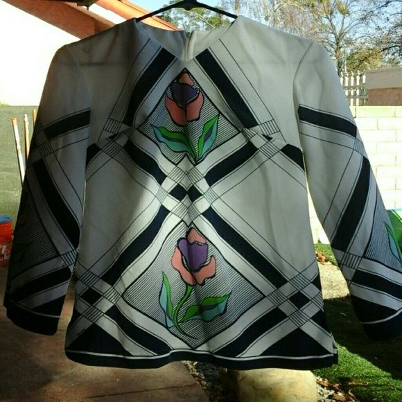 Vintage 70's Tulip Tunic Zip back, polyester, no stains encore encore encore Dresses Mini