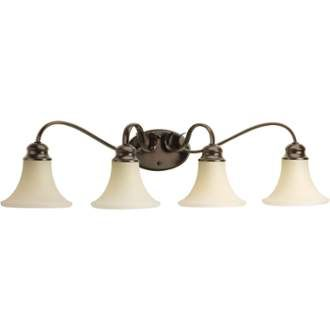 "Photo of Progress Lighting P2105-20 Antique Bronze Applause 4 Light 34 ""Wide Bathroom Vanity Light"