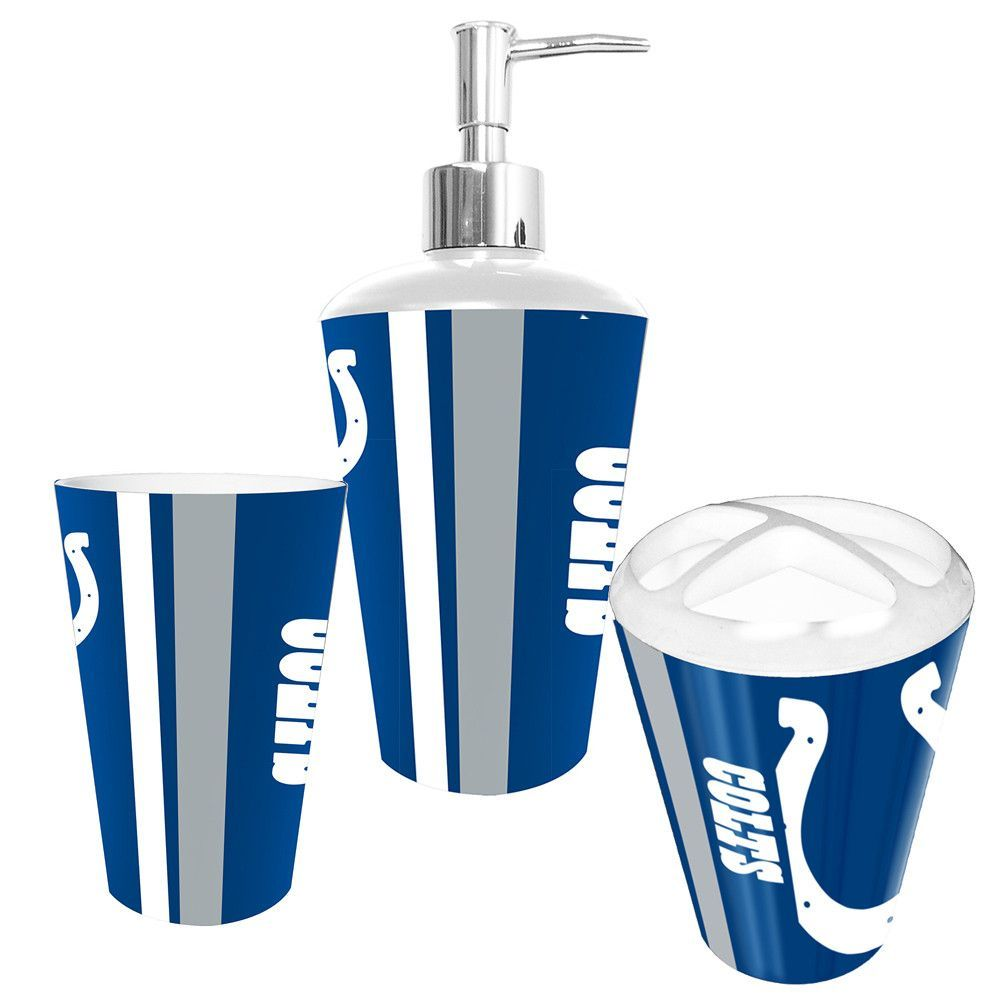 Great Indianapolis Colts NFL Bath Tumbler, Toothbrush Holder U0026 Soap Pump 3pc |  Soap Pump, Soaps And Indianapolis Colts