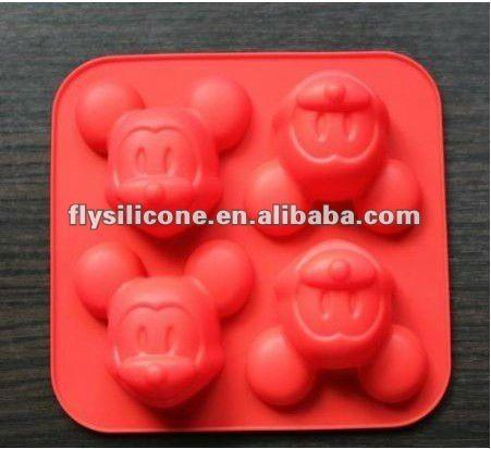 La Cavidad 4 Mickey Mouse De Silicona Molde Torta Chocolate Cake Molds Silicone Chocolate Crafts Cake Mold