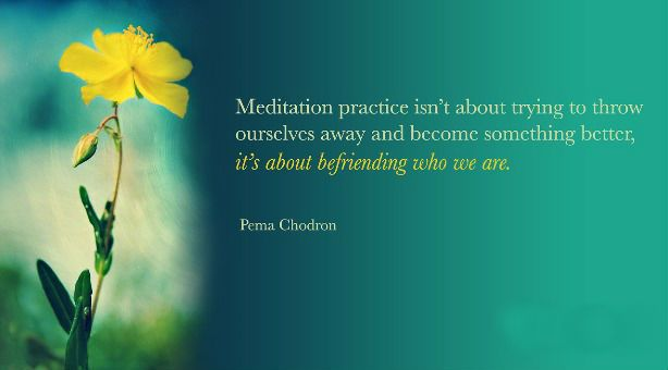 Pema Chodron Quotes Impressive Meditation Practice Isn't About Trying To Throw Ourselves Away And . Decorating Inspiration