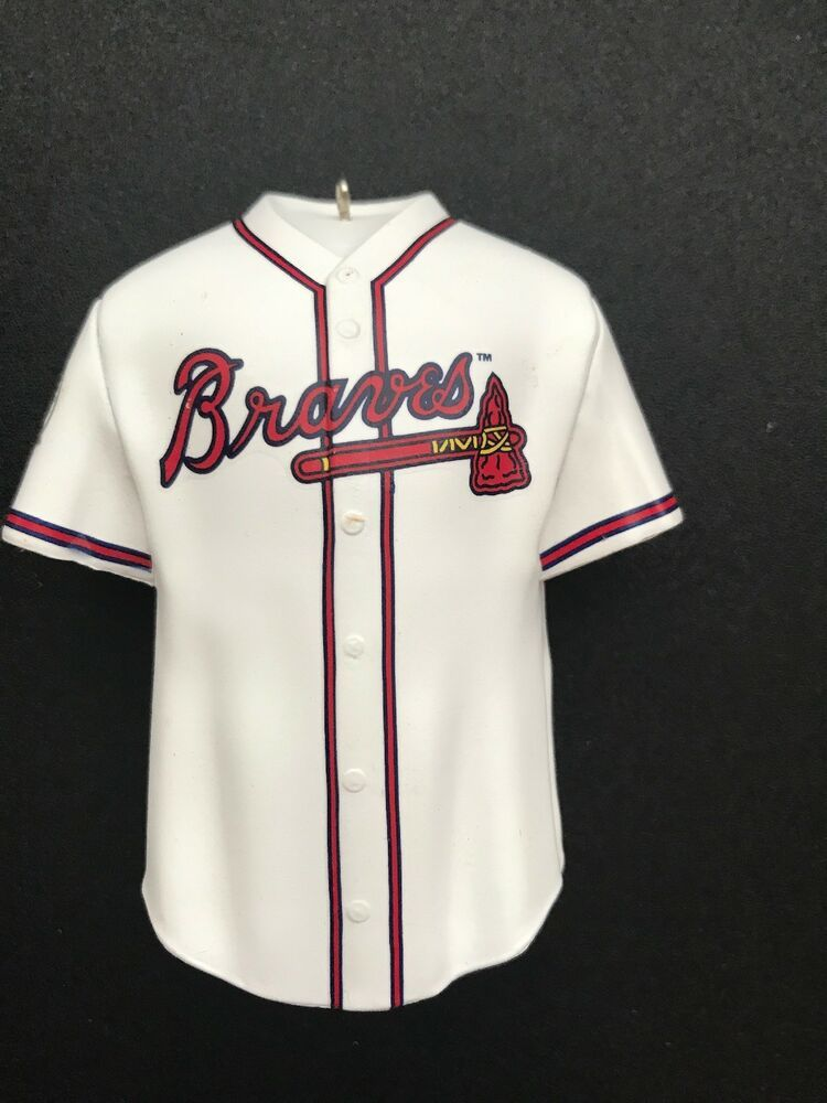 timeless design 1b9e8 6772b Hallmark KEEPSAKE USA STORE Atlanta Braves Jersey Uniform ...