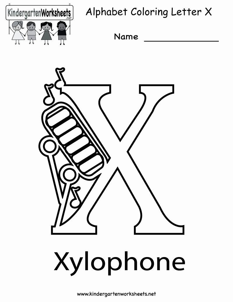 Letter X Coloring Sheet Di 2020
