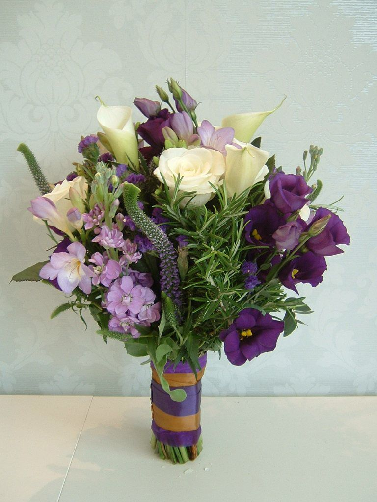 Brides country garden style hand tied bouquet from lily white