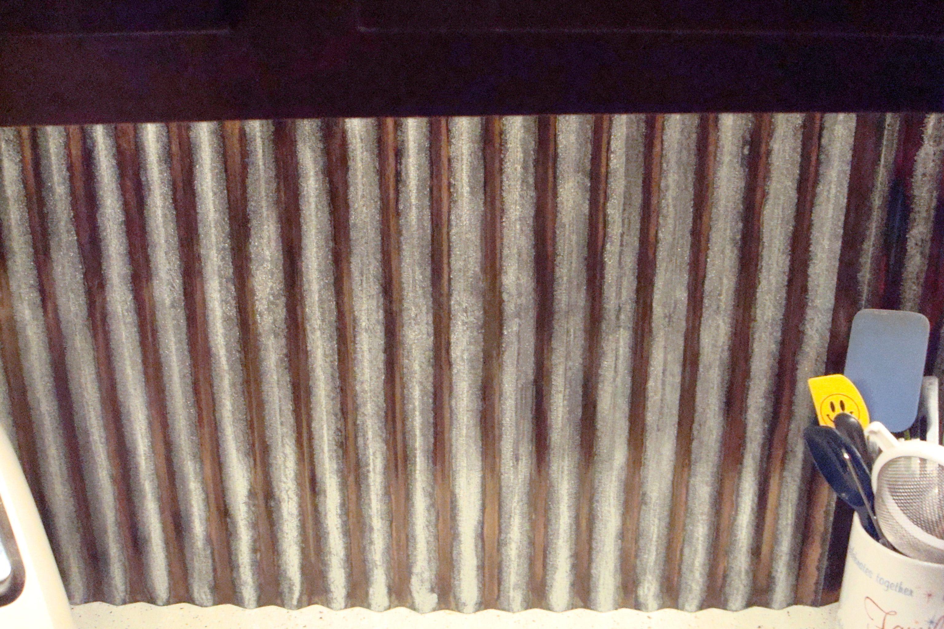 Back Splash Under Warm White Lighting Not Rust Copper