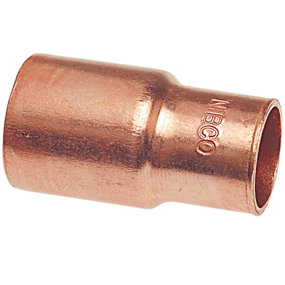 1 1 2 In X 1 In Copper Pressure Ftg X C Reducer Coupling U600 2 Copper Home Depot Copper Fittings