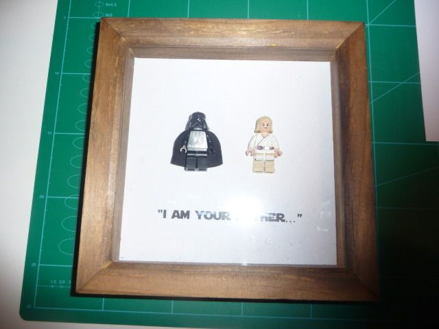 I AM YOUR FATHER - DARTH AND LUKE FRAMED LEGO FIGURES £26.99