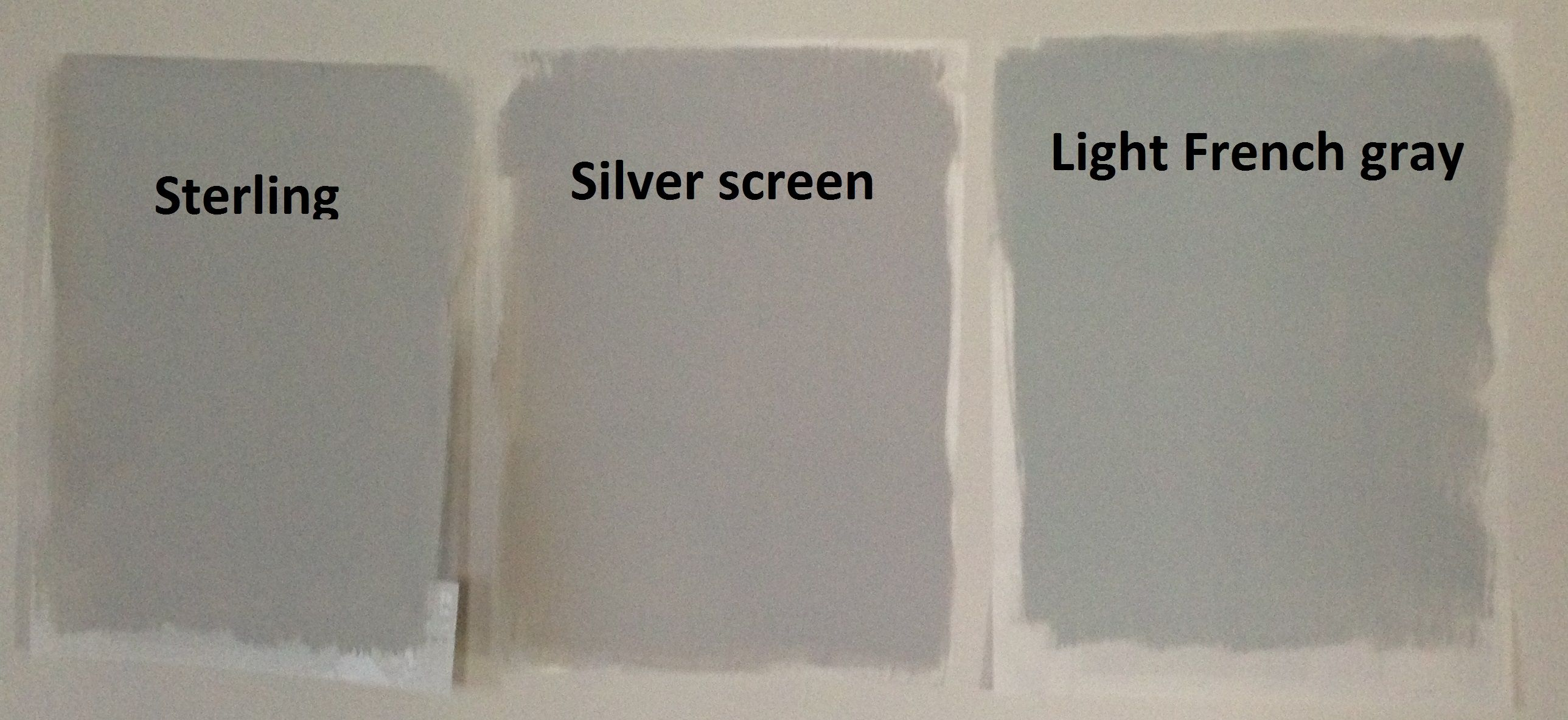 Behr light gray paints sterling silver screen and light for Light gray color swatch