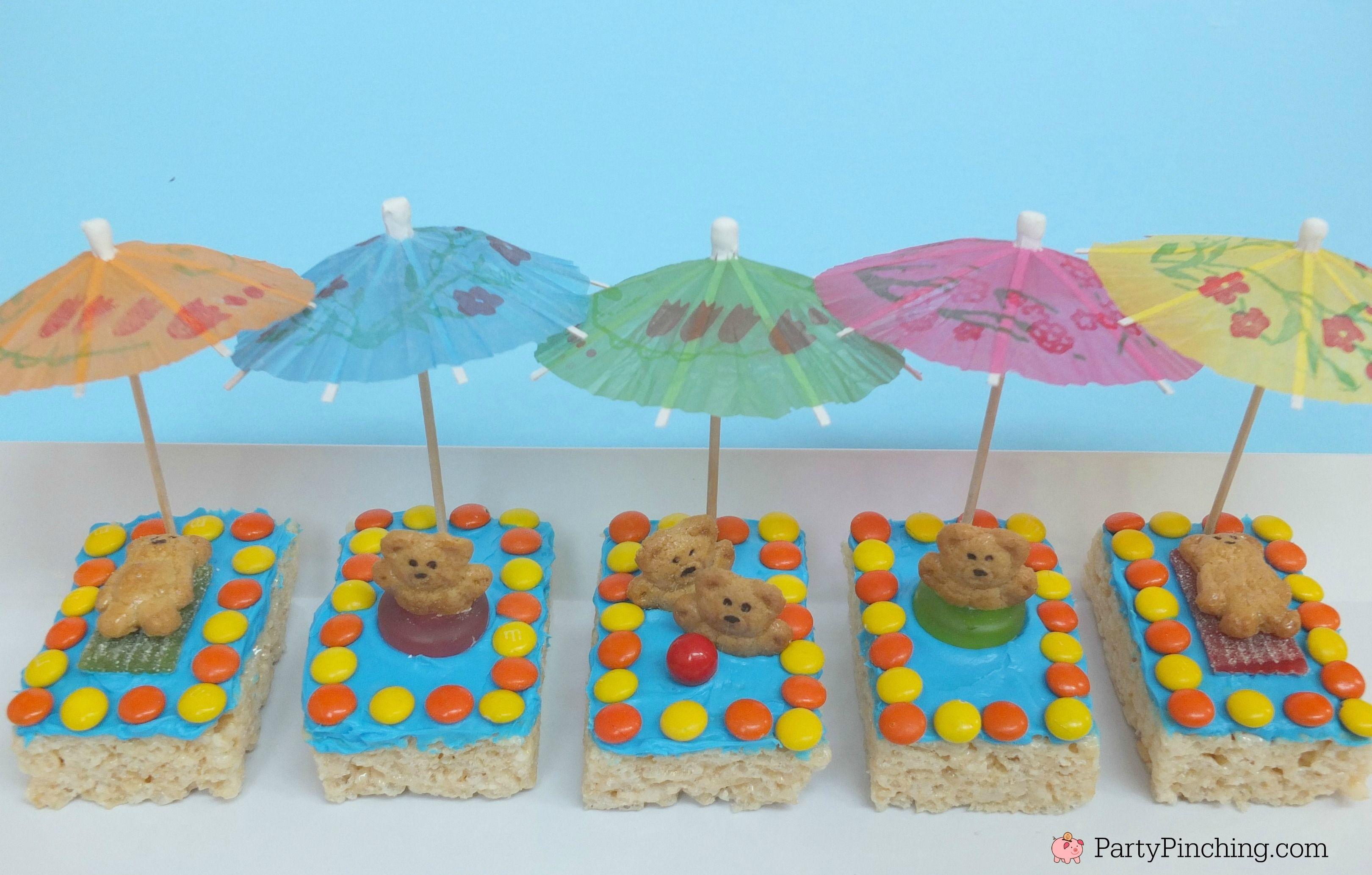 Kiddie Pool Rice Krispie Treats Pool Snack Beach Theme Snack