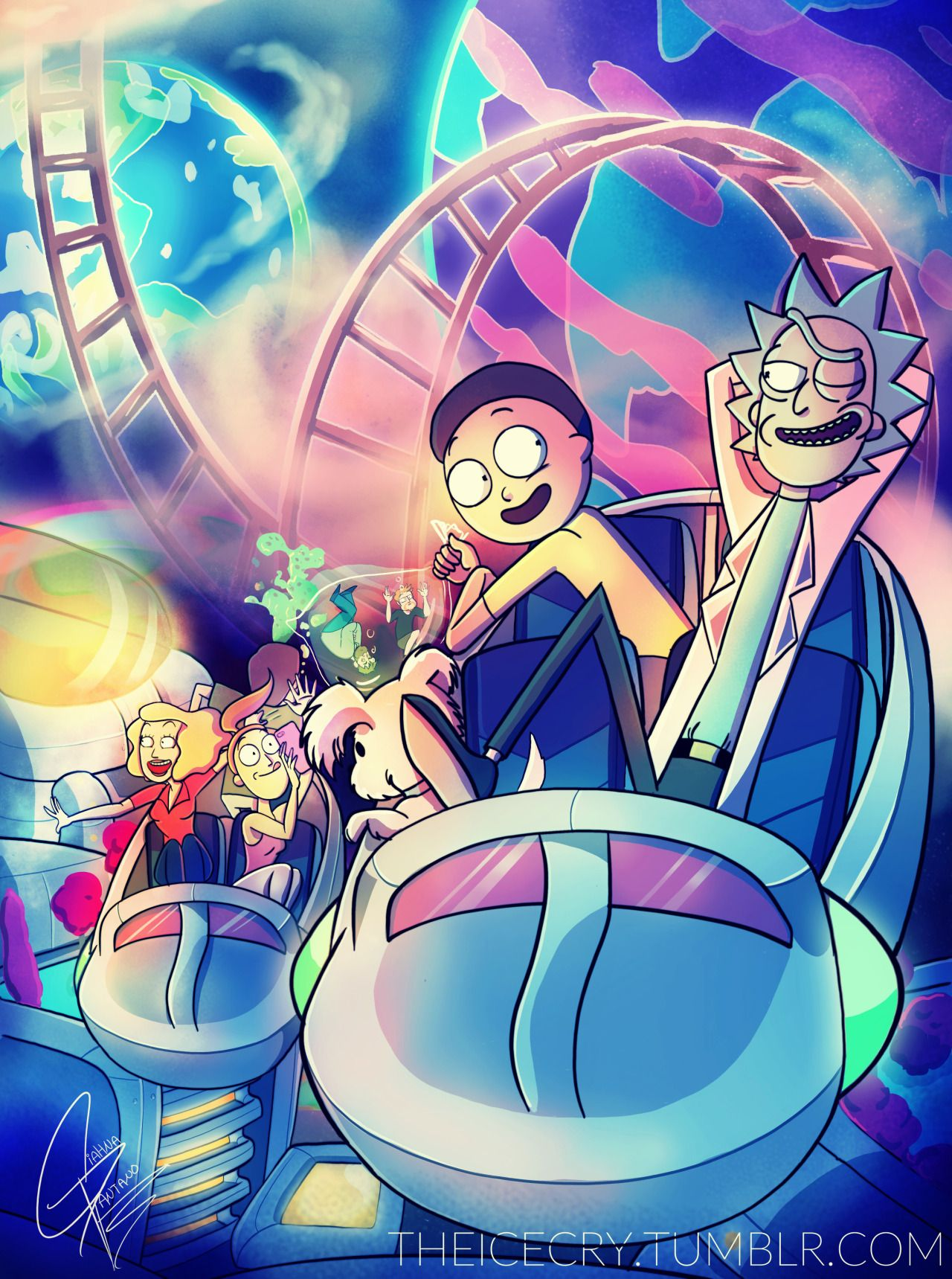 Rick And Morty Aesthetic Art