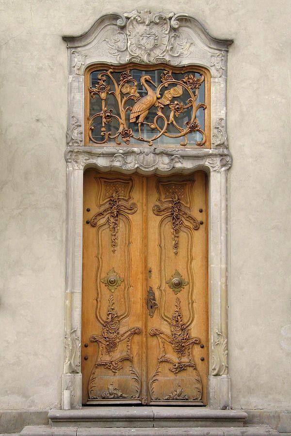 art nouveau doors, gdańsk, poland   architectural details